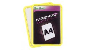 Magneto Solo - magnetický rámeček A4, žlutý - 4 ks