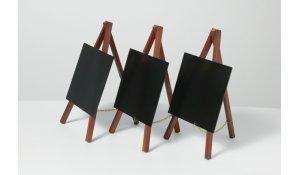 Stolní stojánek s popisovací tabulkou MINI (3ks), mahagon
