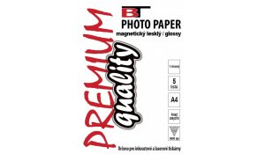 Magnetický fotopapír lesklý A4, 5 listů