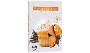 Vonná čajová svíčka Muffiny vanilka 6 ks v krabičce