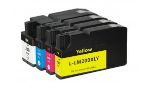 Lexmark 200XL kompatibilní sada všech 4 barev XL kapacita