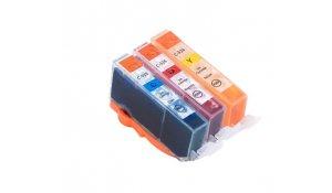 Canon CLI-526CMY - kompatibilní multipack sada 3 barev s čipem, Topprint