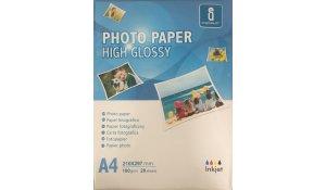 Fotopapír A4 lesklý, 180gr/m2, 20listů