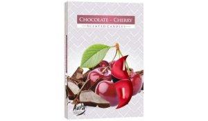 Vonná čajová svíčka Čokoláda višeň 6 ks v krabičce