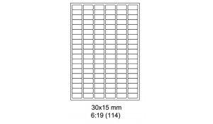 Samolepící etikety Emy - 30x15 mm
