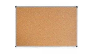 Korková tabule 90x60, ALU rám + montážní sada
