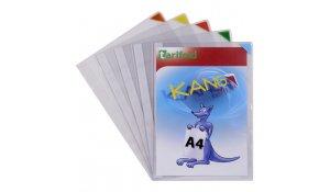 Kang Easy Clic - samolepicí kapsy A4 nepermanentní, mix barev - 10ks