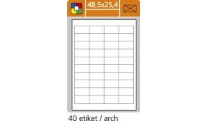 Samolepící etikety SK Label pro laserový a inkoustový tisk 48,5 x 25,4 mm