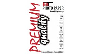 Fotopapír lesklý, 13x18cm, 180g/m2, 50 listů
