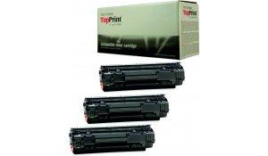 HP CB436A - kompatibilní multipack 3ks toner 36A, Topprint EXCLUSIVE kvalita