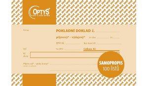 Univerzální pokladní doklad A6, samopropisovací, 100 listů