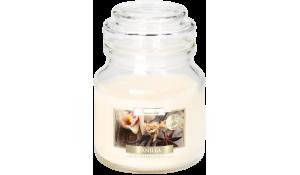 Vonná svíčka Vanilka ve skleněné dóze s víčkem
