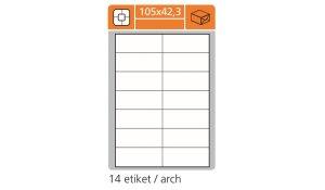 Samolepící etikety SK Label pro laserový a inkoustový tisk 105 x 42,3 mm