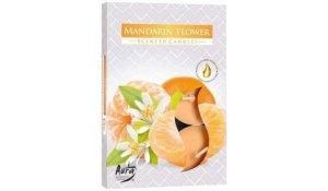 Vonná čajová svíčka Mandarinka květ 6 ks v krabičce