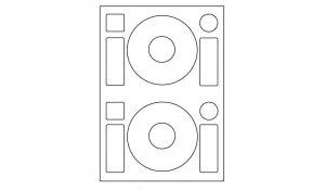 Samolepící etikety Emy - CD 2x