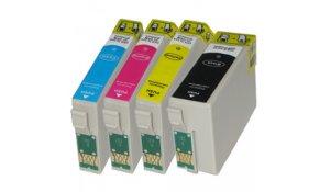 Epson T1305 - kompatibilní sada 4 barev s čipy